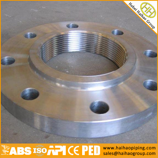 What is a threaded flange?