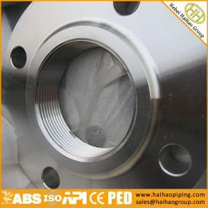 Threaded Flange, Screwed Flange, NPT Flange B16.5 ASTM A105 CNC Screwed 1/2