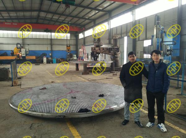 client inspect tube sheets quality and production