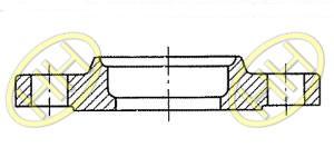 JIS B2220 Slip On Hubbed Flange Type C Drawing