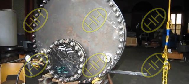 Forged steel flange hydro pressure test