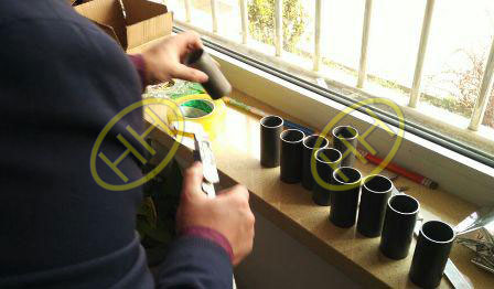 GPC inspector check the dimensions of the precision tube in HAIHAO