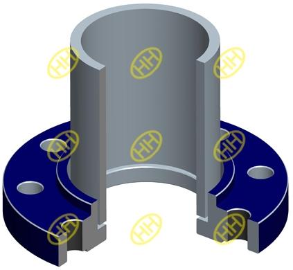 socket weld flange pipe connection design