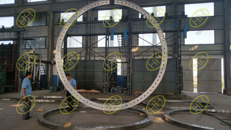 Large caliber flat flanges used for wind power industry
