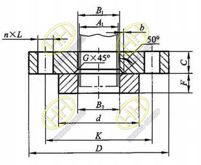 Slip on ring lap joint flange drawing