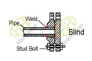 ANSI ASME B16.5 blind flange drawing