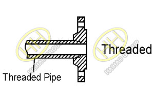 ANSI ASME B16.5 threaded flange drawing