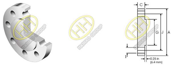 ANSI ASME B16.5 Class 1500 Blind Flange Dimensions