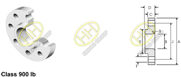 ANSI/ASME B16.5 class 900 lap joint flange