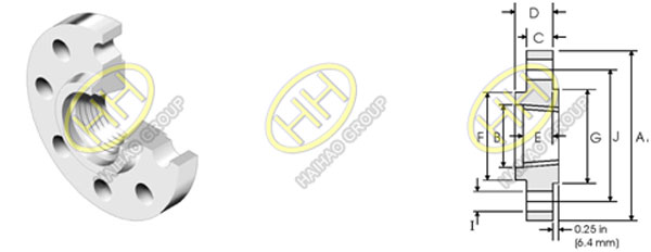 ANSI/ ASME B16.5 class 2500 threaded flange
