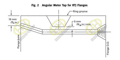 ASME B16.36-2015 Standard Orifice Flange Angular Meter Tap for RTJ Flanges
