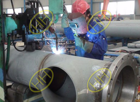 weld flange flange pipe and tee butt welding joint