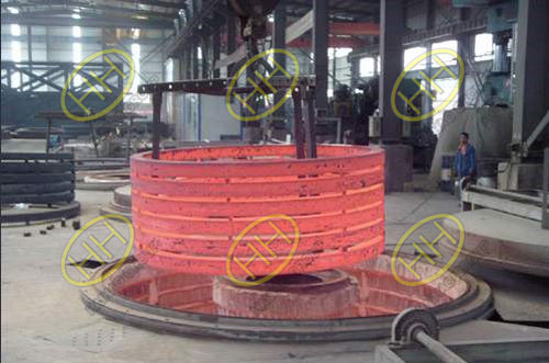 Heat treatment of flanges