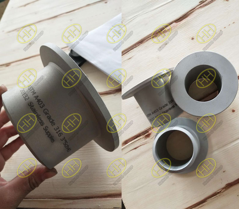 ASTM A403 Grade 316 MSS SP-43 lap joint stub end Type B finished in Haihao Group