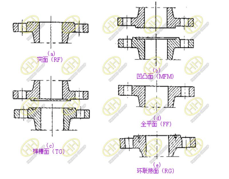 Flange sealing surfaces