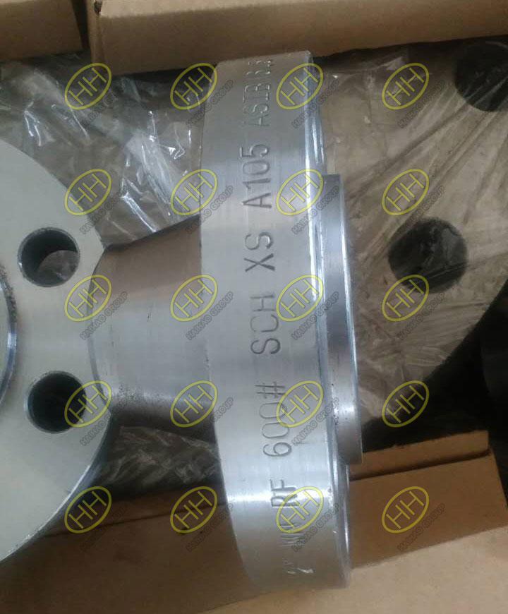 ASME B16.5 class 600 ASTM A105 RF weld neck flange