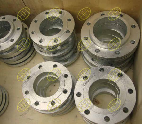 Hot dip galvanizing for flange